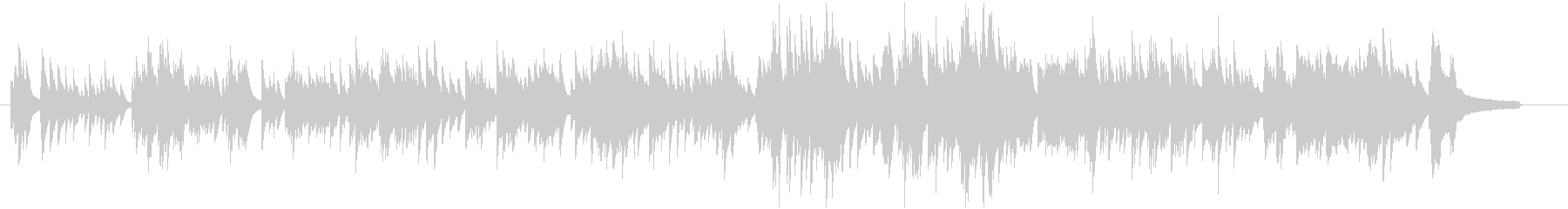 少ししっとりとした美しい感動的ピアノ曲の未再生の波形