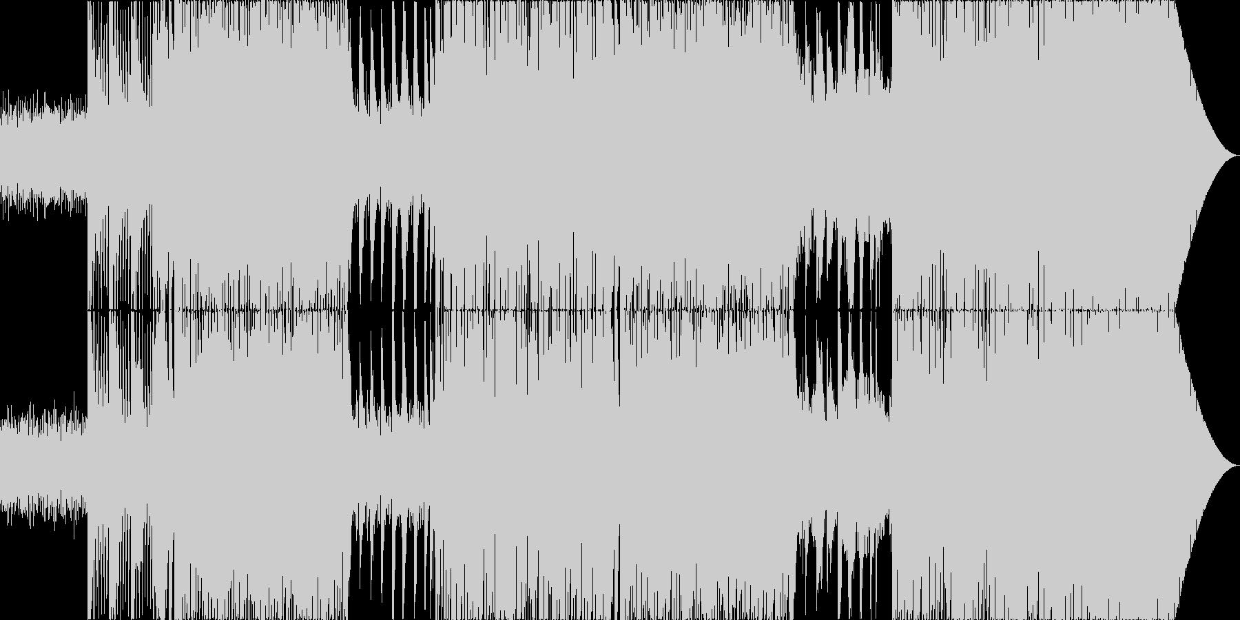 ピアノのメロディが切ないEDMの未再生の波形