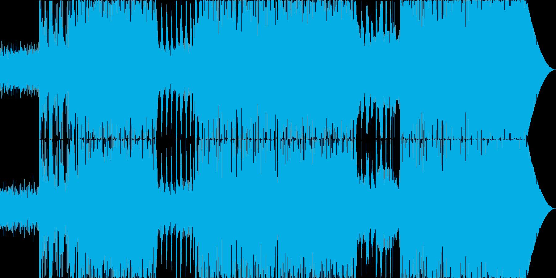 ピアノのメロディが切ないEDMの再生済みの波形