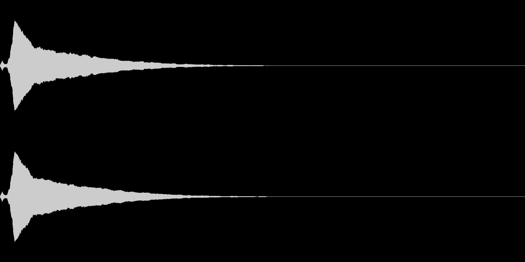 強調音、クリック音など(ピキーン)の未再生の波形