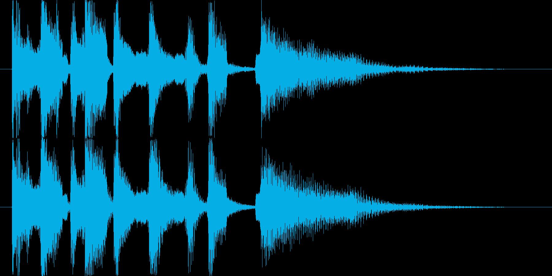 ロックオルガンのジングル(テンポ落ち)の再生済みの波形