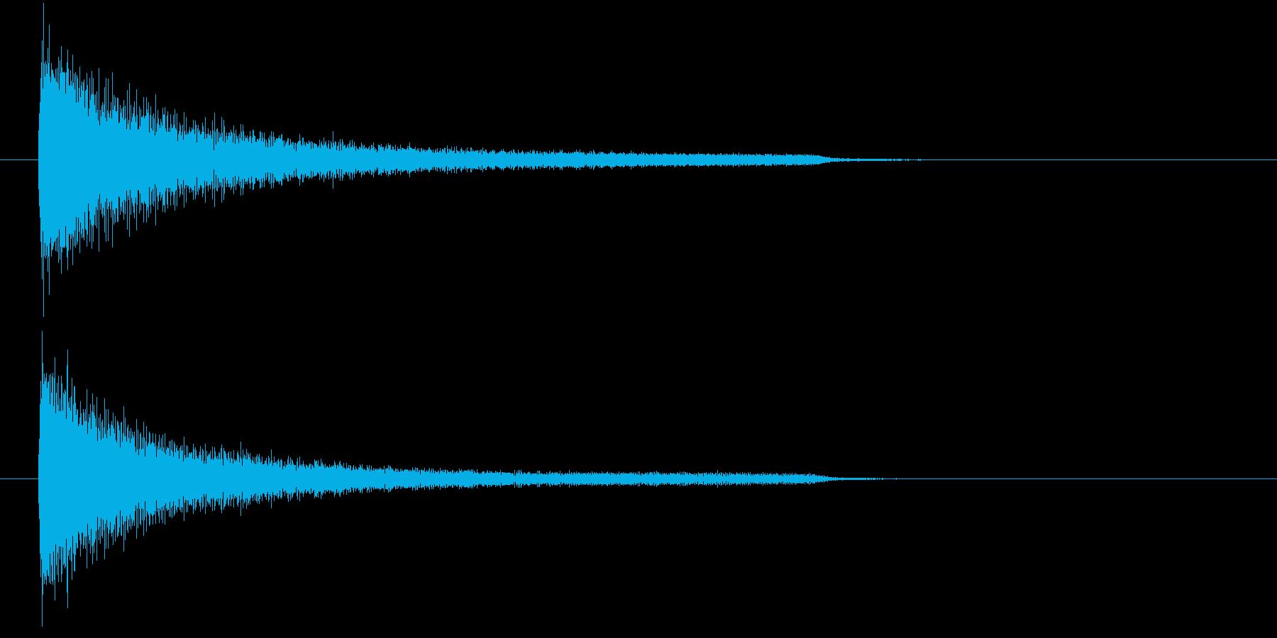 一番シンプルな(暗い)ピアノ和音の再生済みの波形