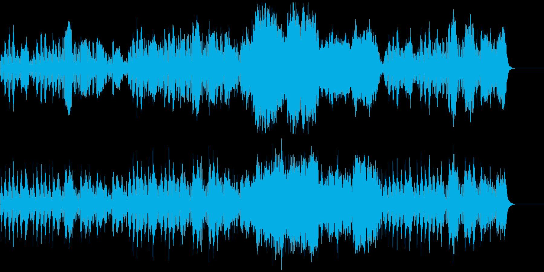 日常系、子犬や子猫が遊びまわる、ほのぼのの再生済みの波形