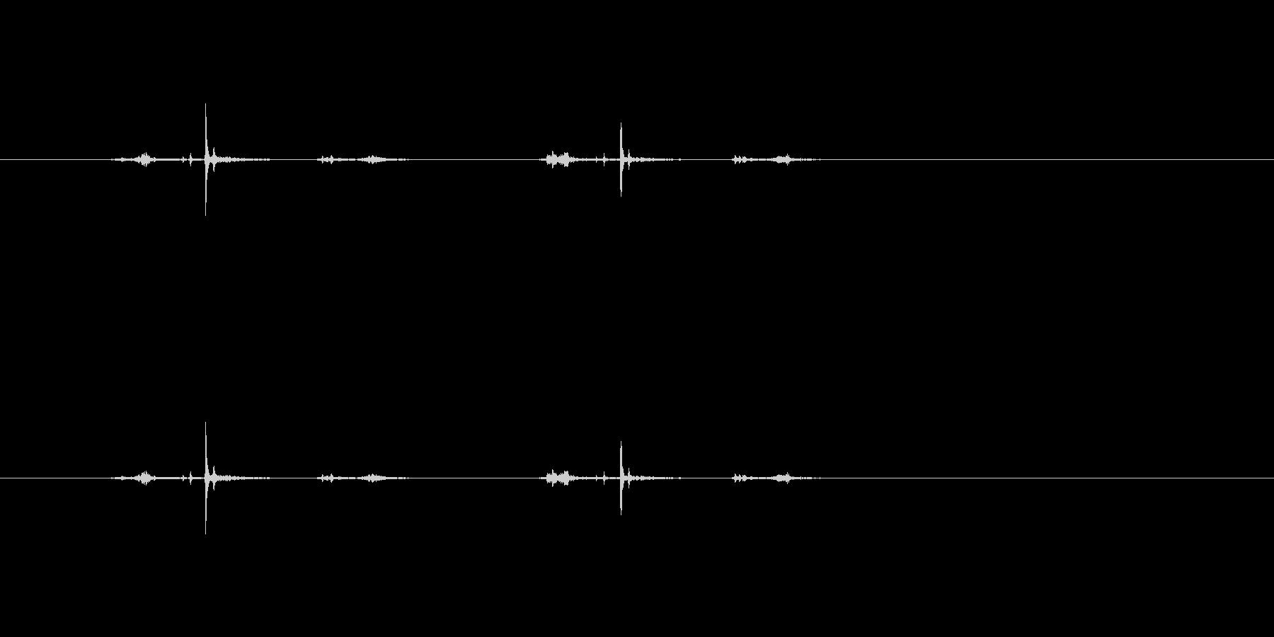 【ホッチキス03-3(カチカチ)】の未再生の波形