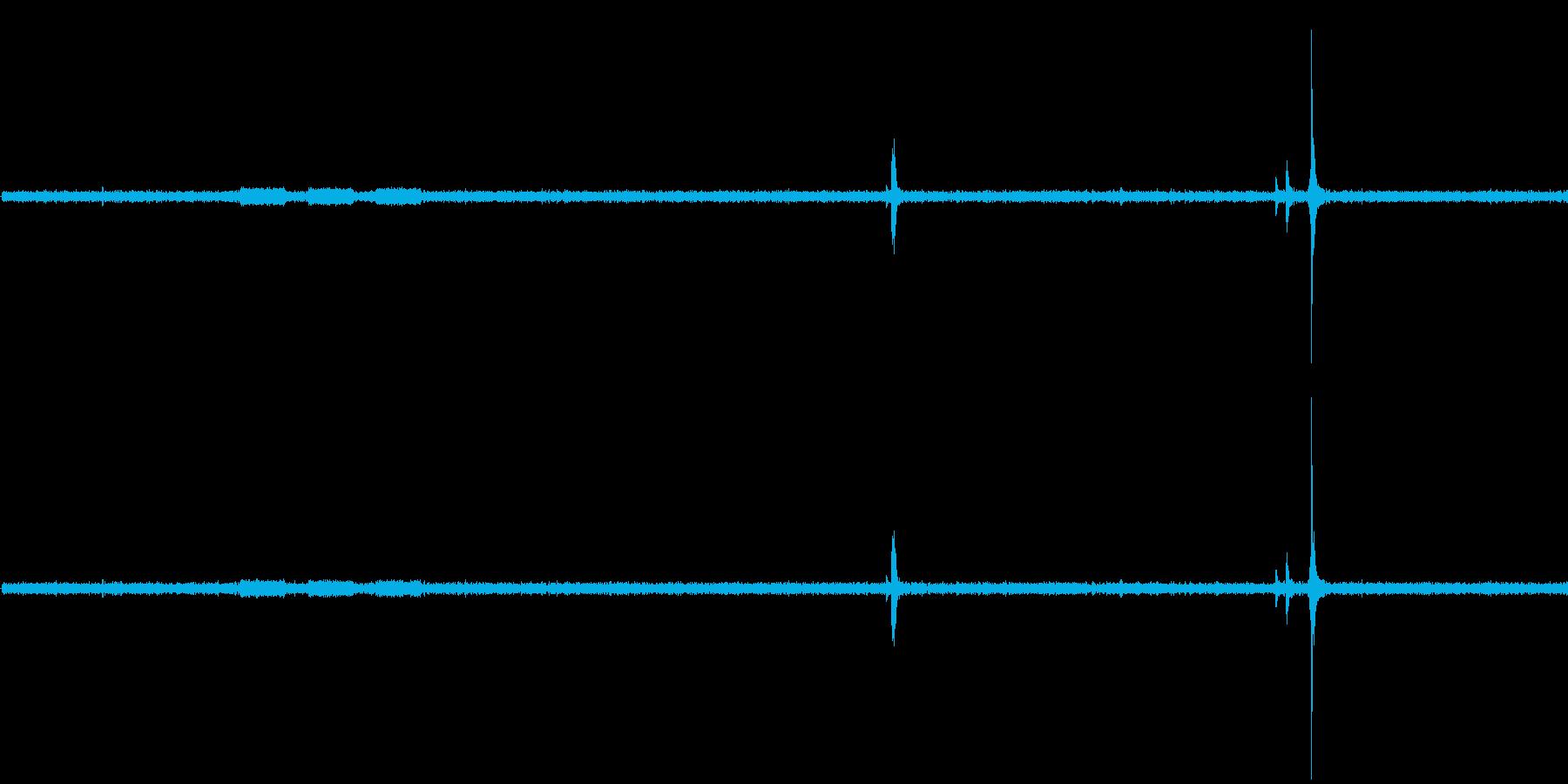 電子レンジの開閉音・稼働音ですの再生済みの波形