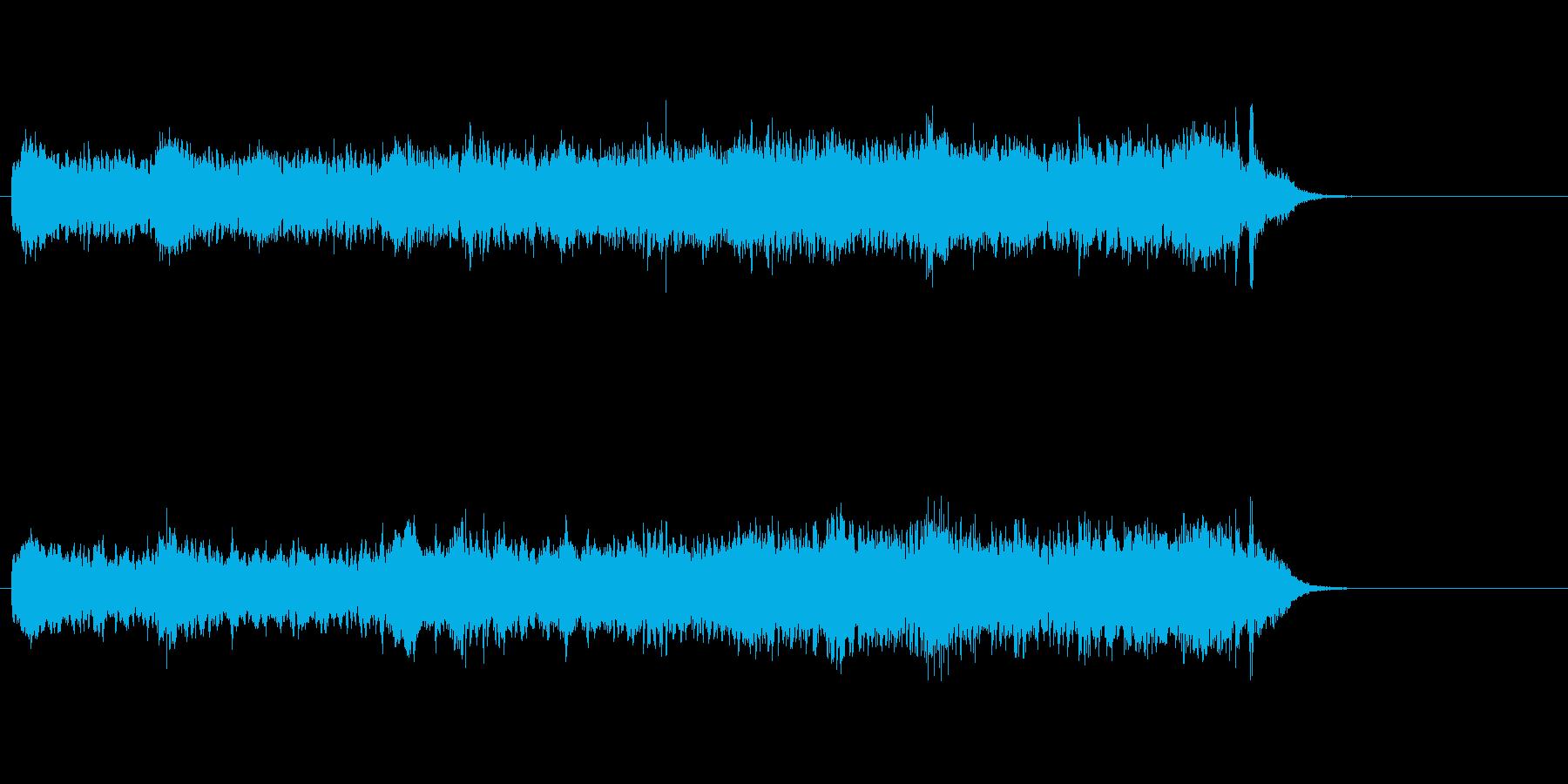 流線的なイメージを持つアンビエントの再生済みの波形