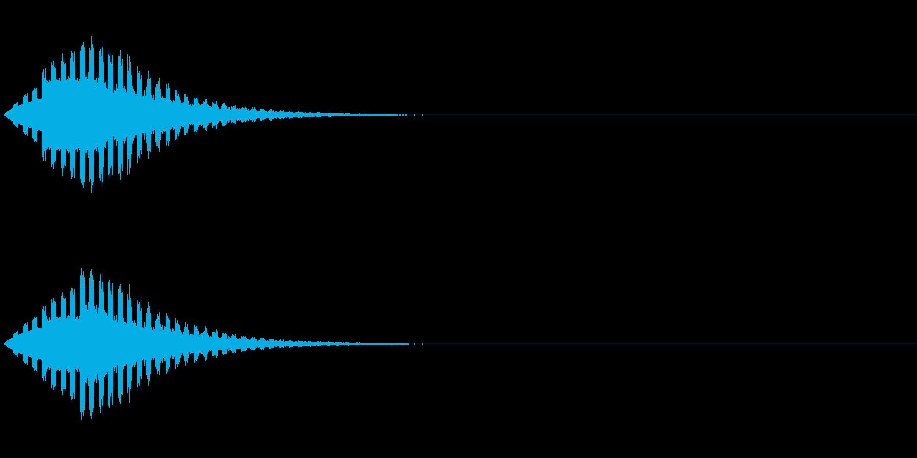 ヒューン↓(場面転換、流れ星、下降)の再生済みの波形