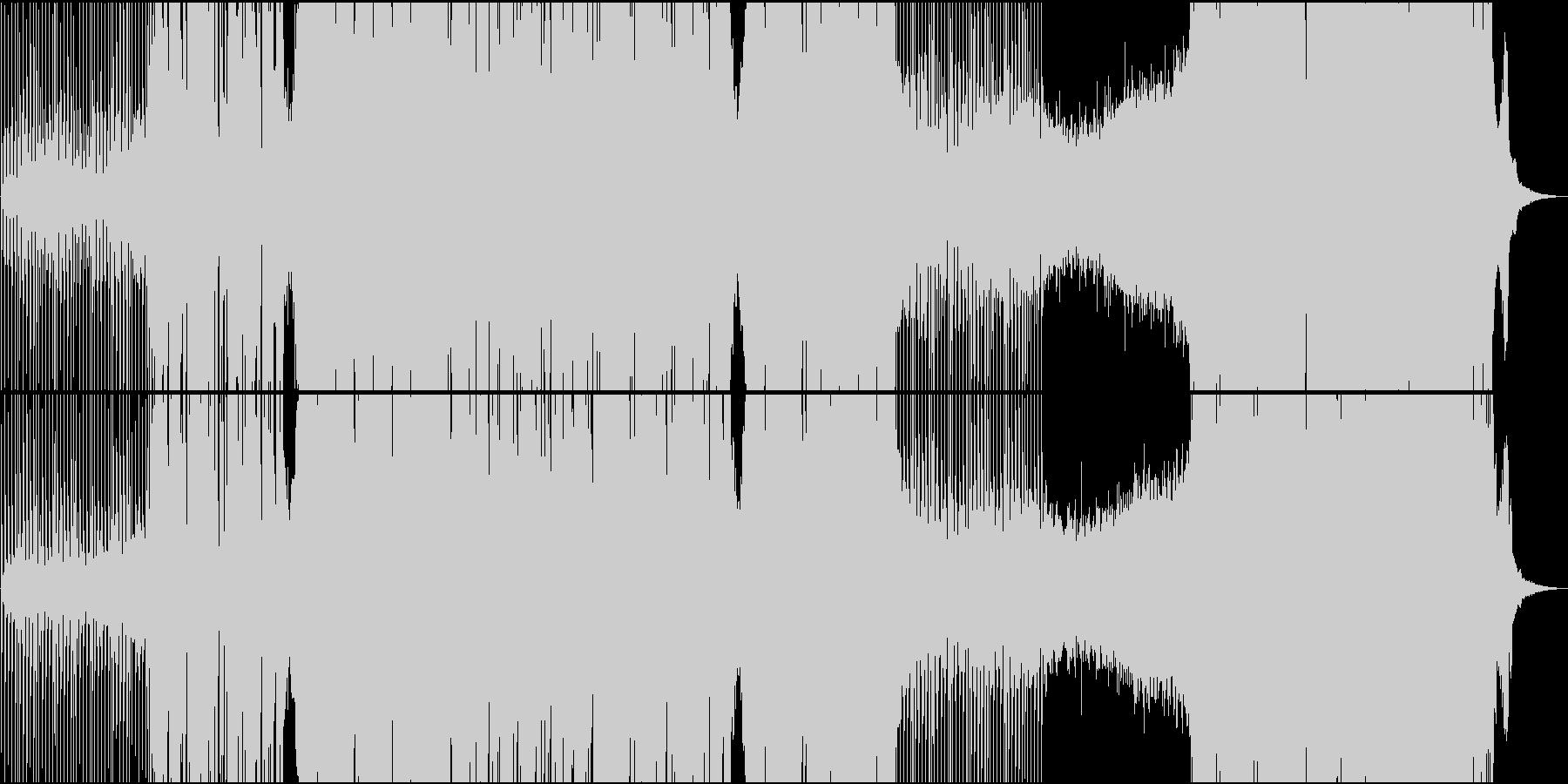 ほのぼのしたゆったりトロピカル系EDMの未再生の波形
