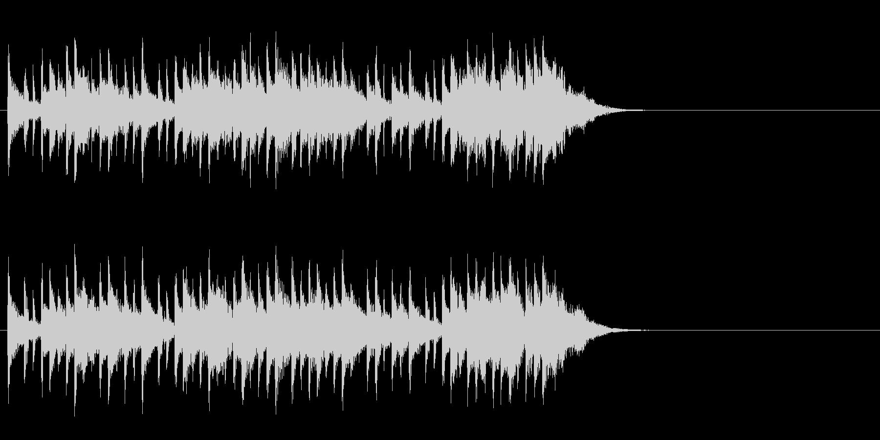 のんびりと爽やかなポップ(Aメロ)の未再生の波形