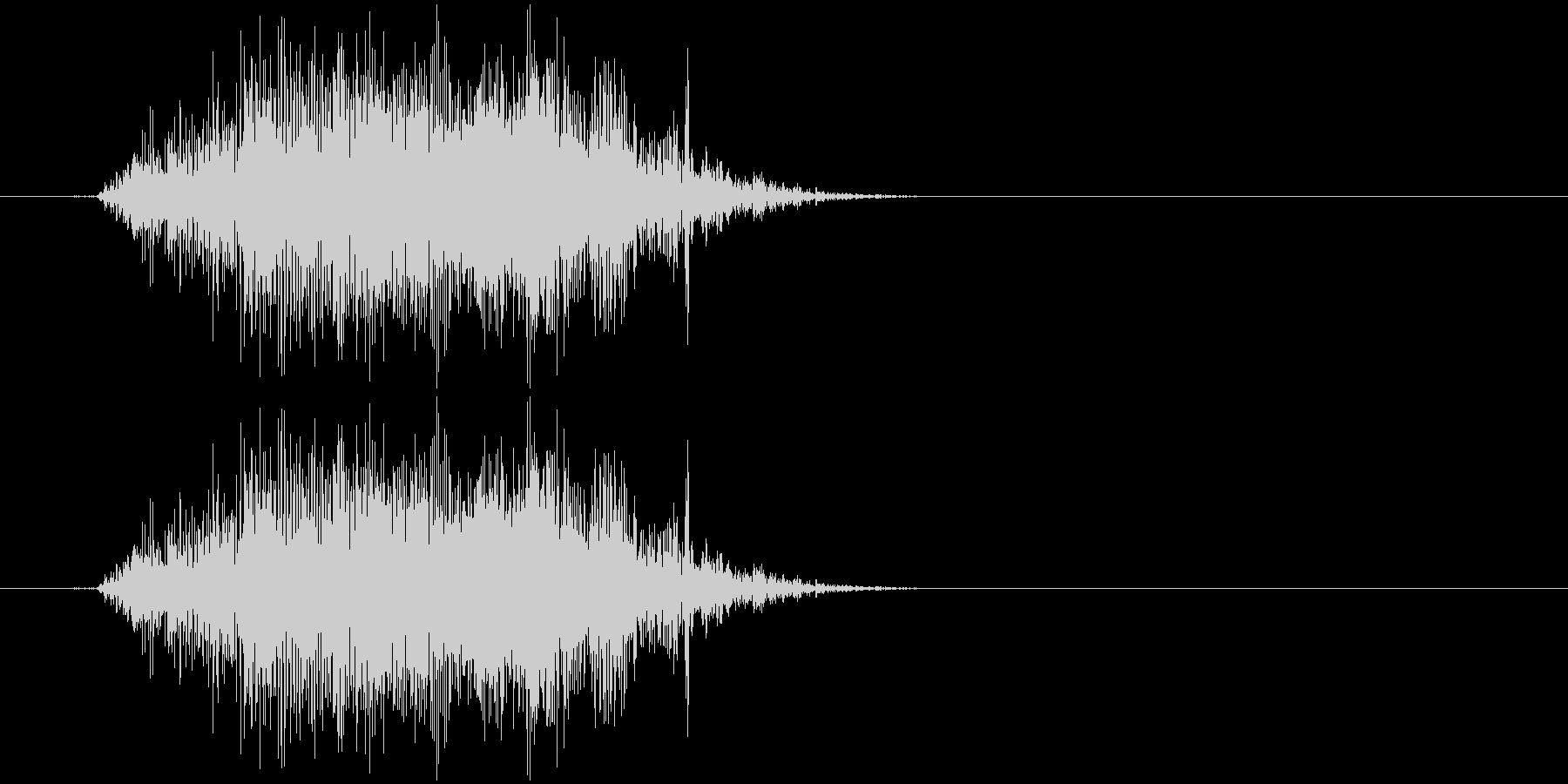 チャックの開け閉め音の未再生の波形