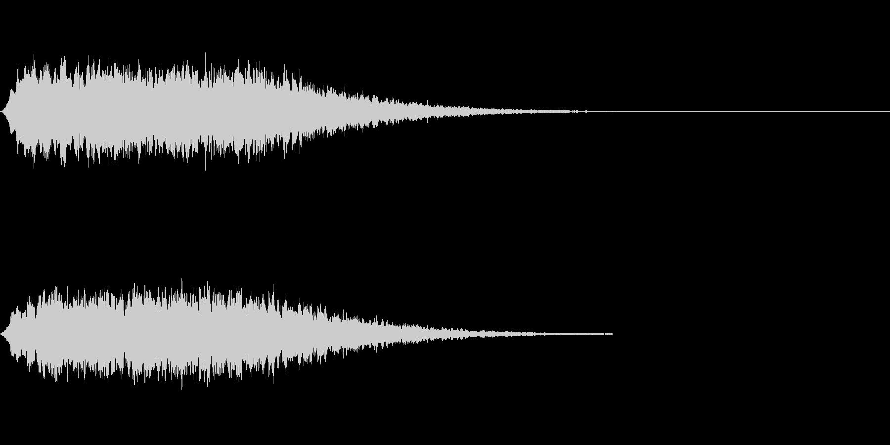 神秘的なシンセ音#2・サウンドロゴ等〜の未再生の波形
