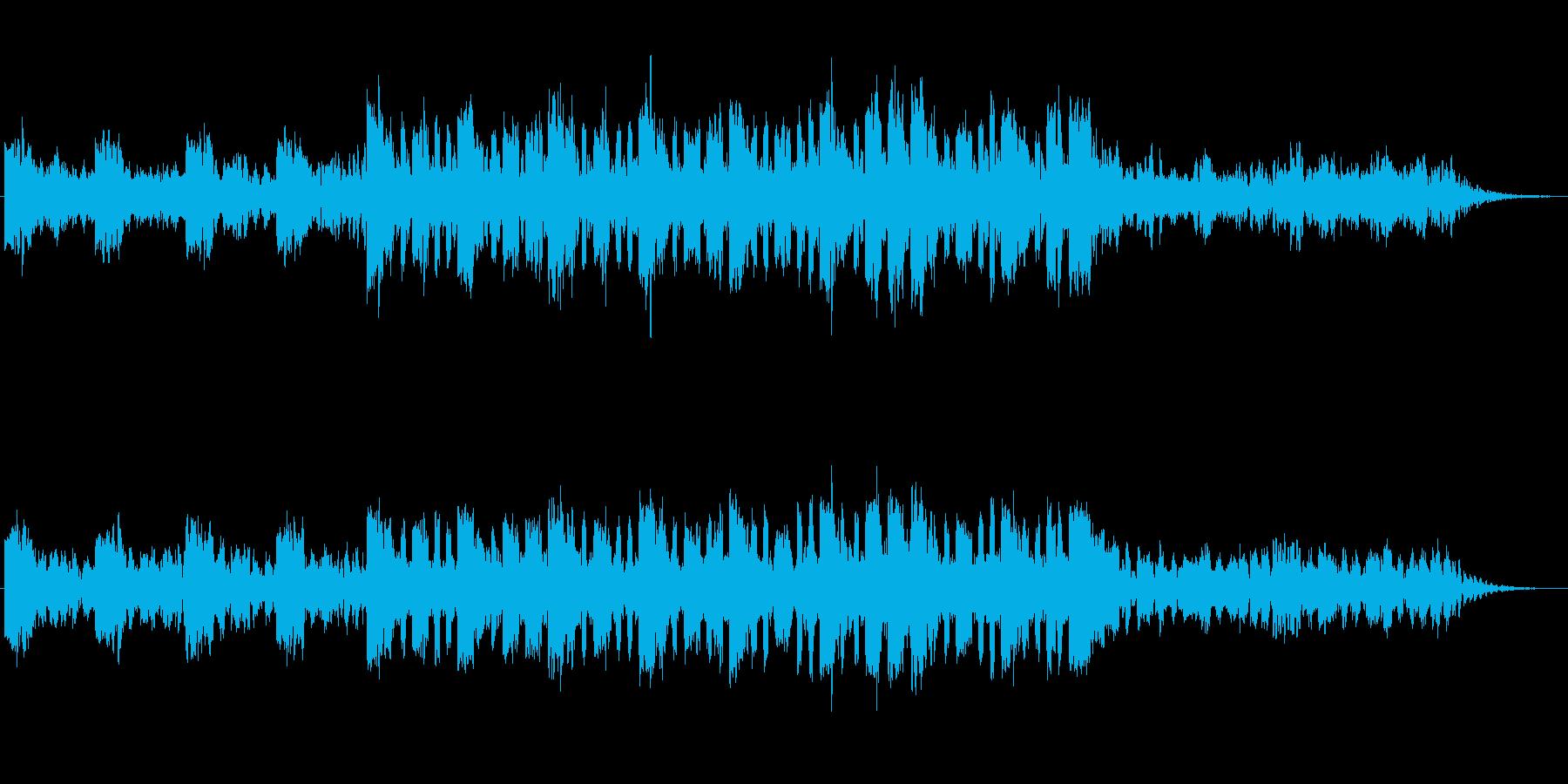 ほのぼのとした笛とシンセのジングルの再生済みの波形