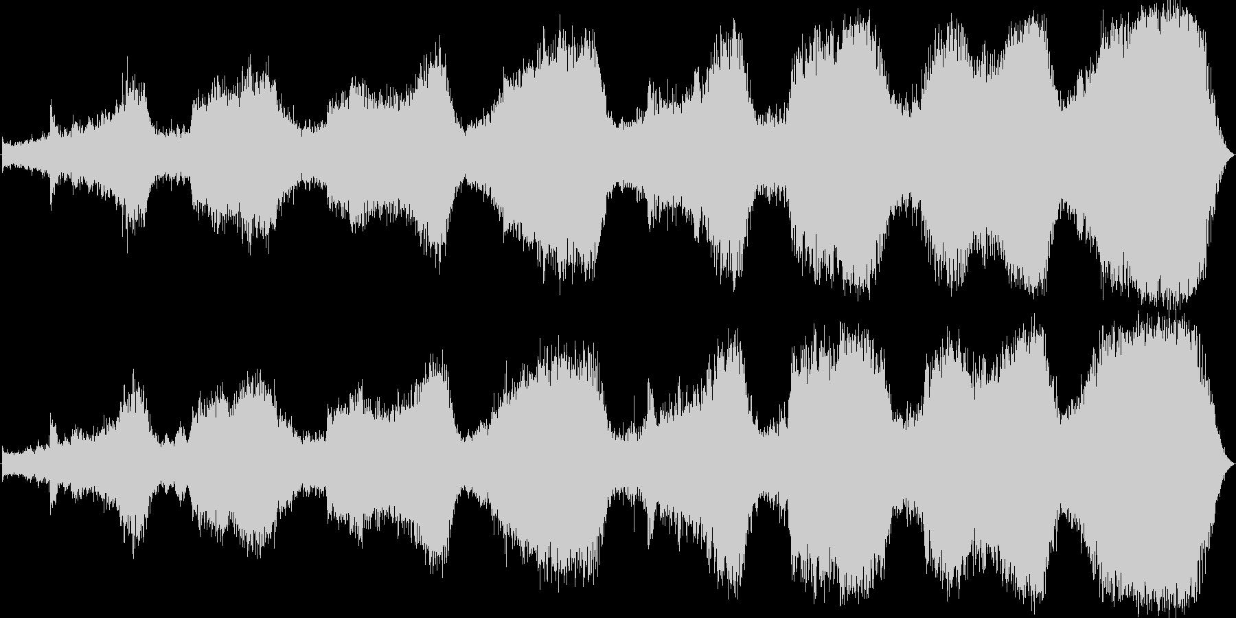 不穏な雰囲気 内面的な音楽の未再生の波形