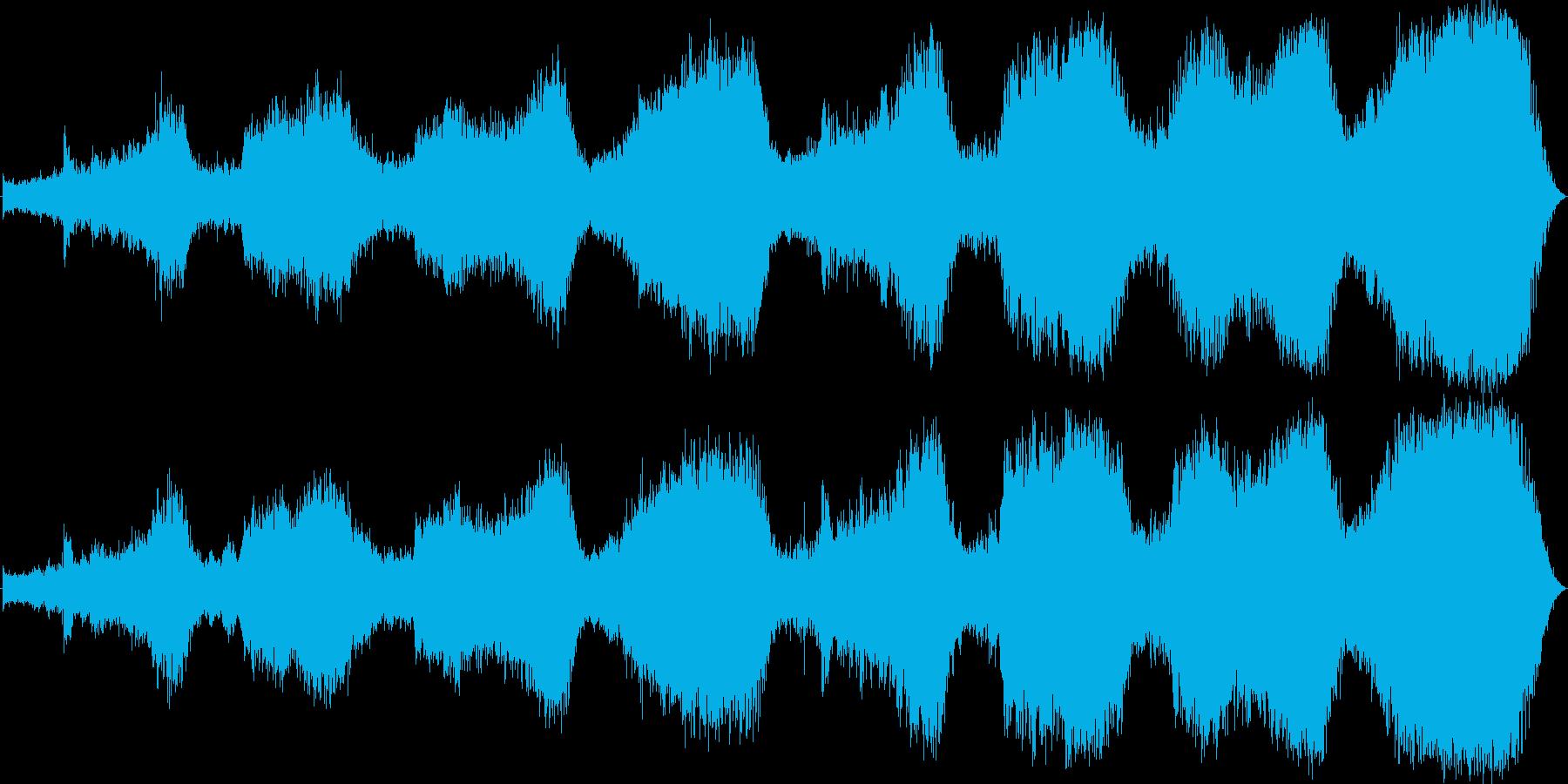 不穏な雰囲気 内面的な音楽の再生済みの波形