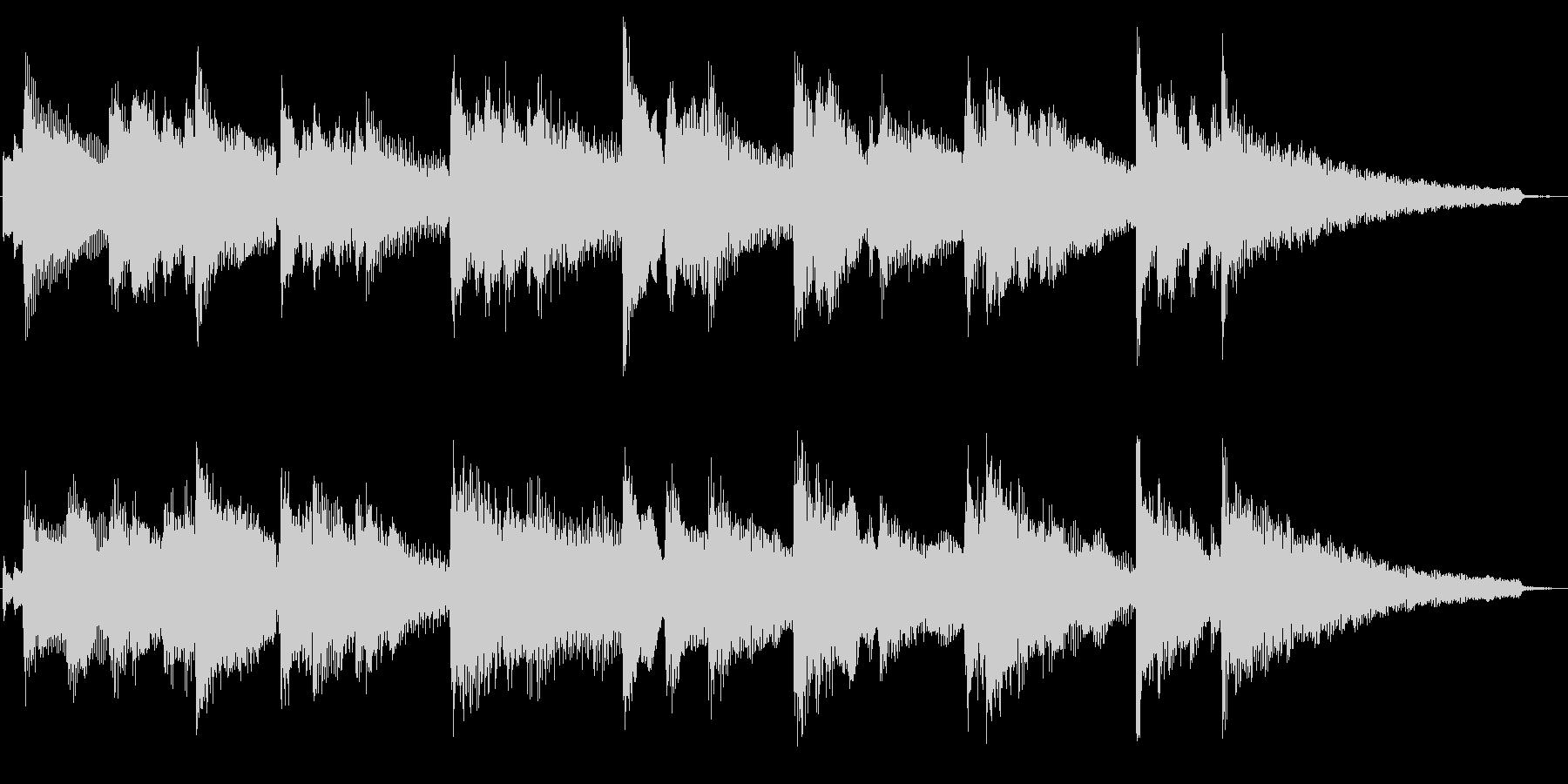 夜のニュース番組風ピアノ ジングル 素材の未再生の波形