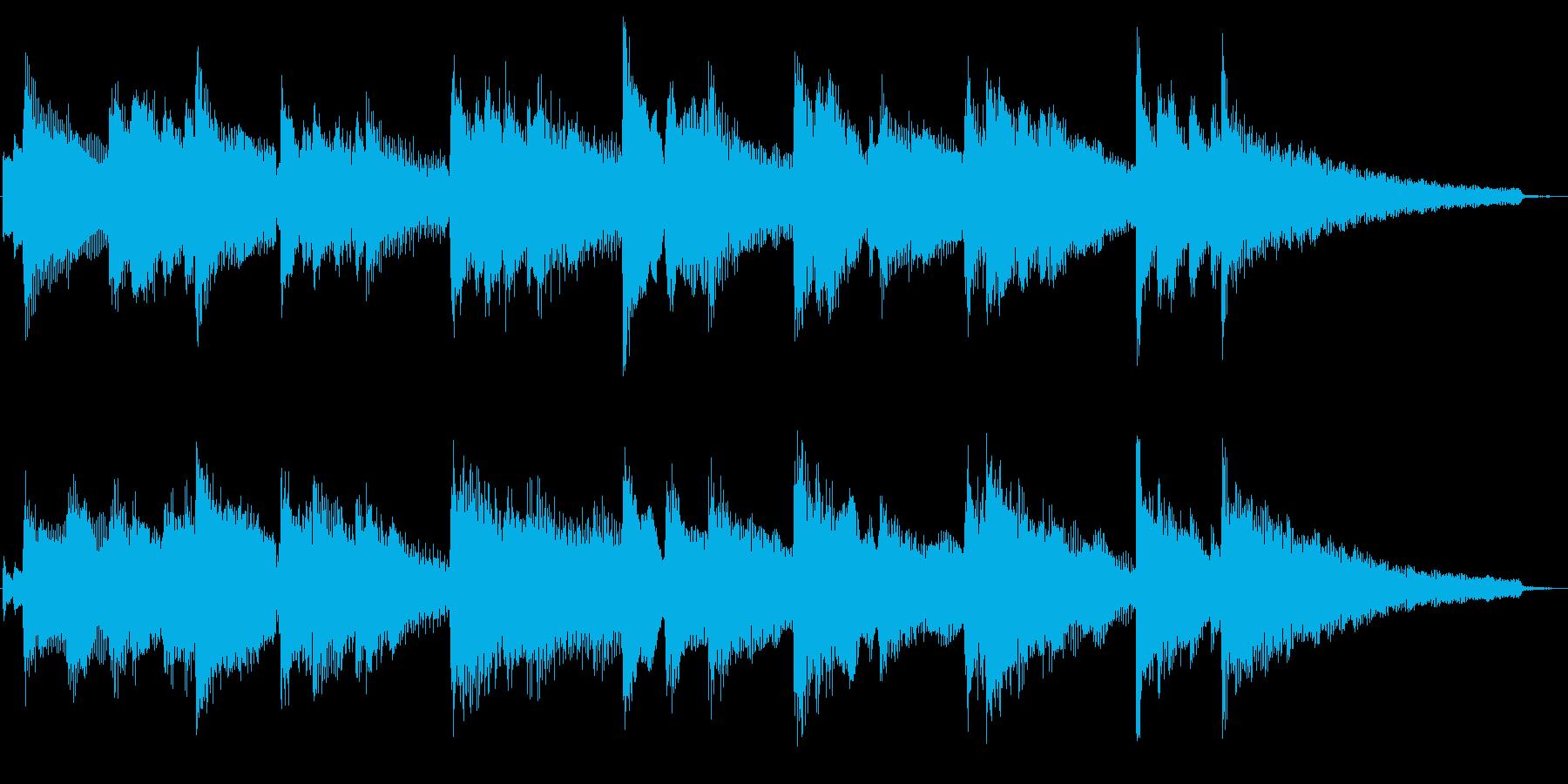 夜のニュース番組風ピアノ ジングル 素材の再生済みの波形