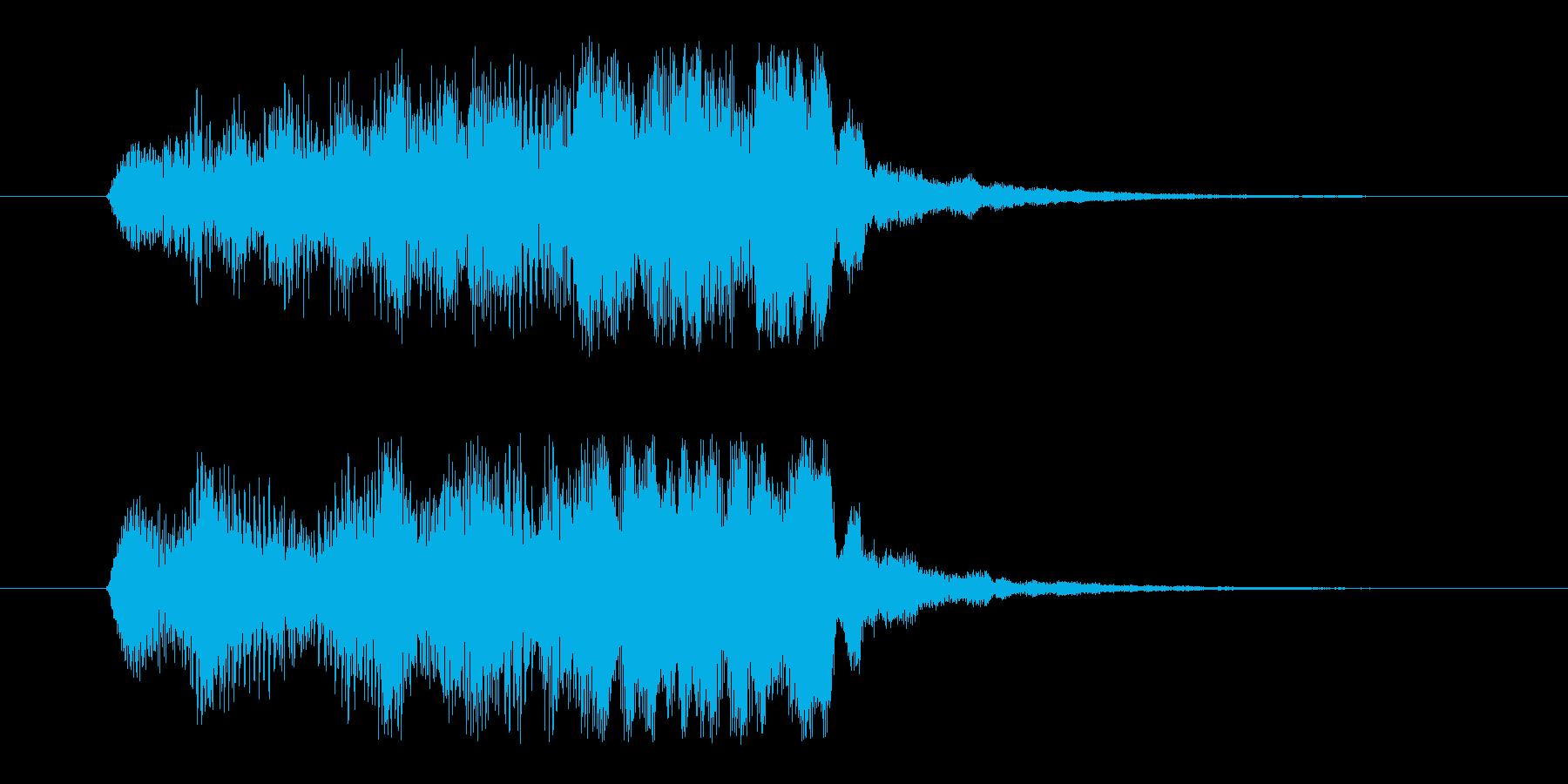 エンカウントジングルの再生済みの波形