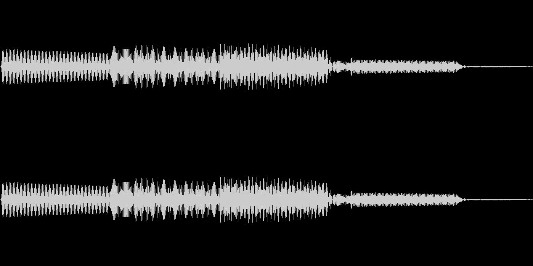 ボタン決定音システム選択タッチ登録A02の未再生の波形