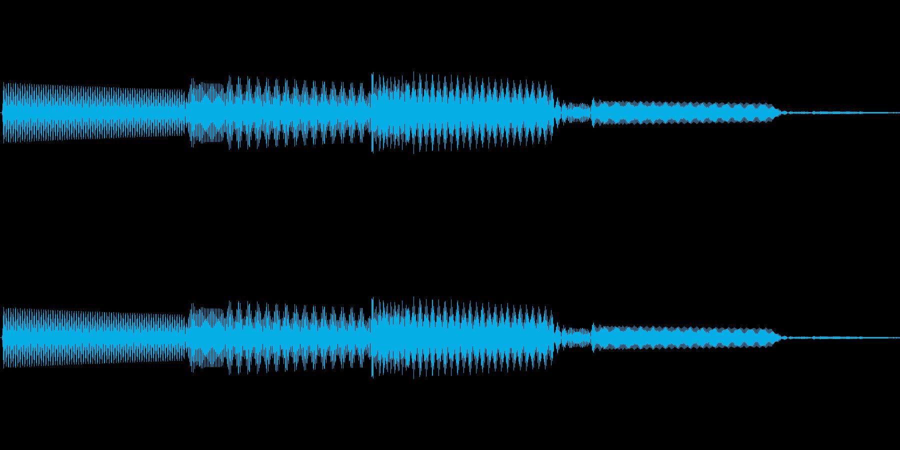 ボタン決定音システム選択タッチ登録A02の再生済みの波形