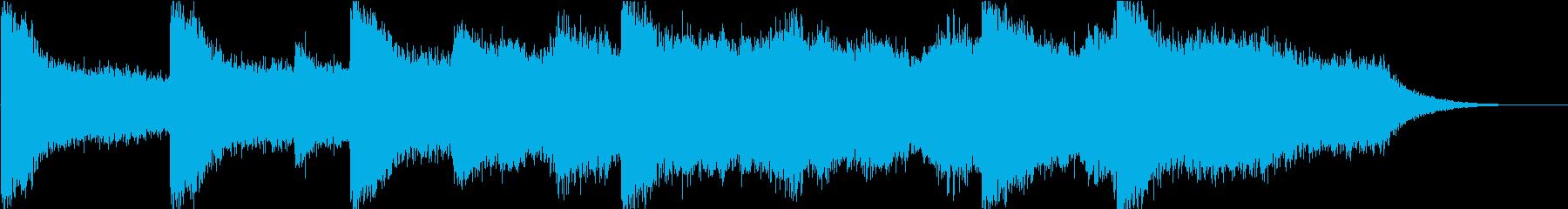ハリウッド映画風BGM(OP・登場)の再生済みの波形