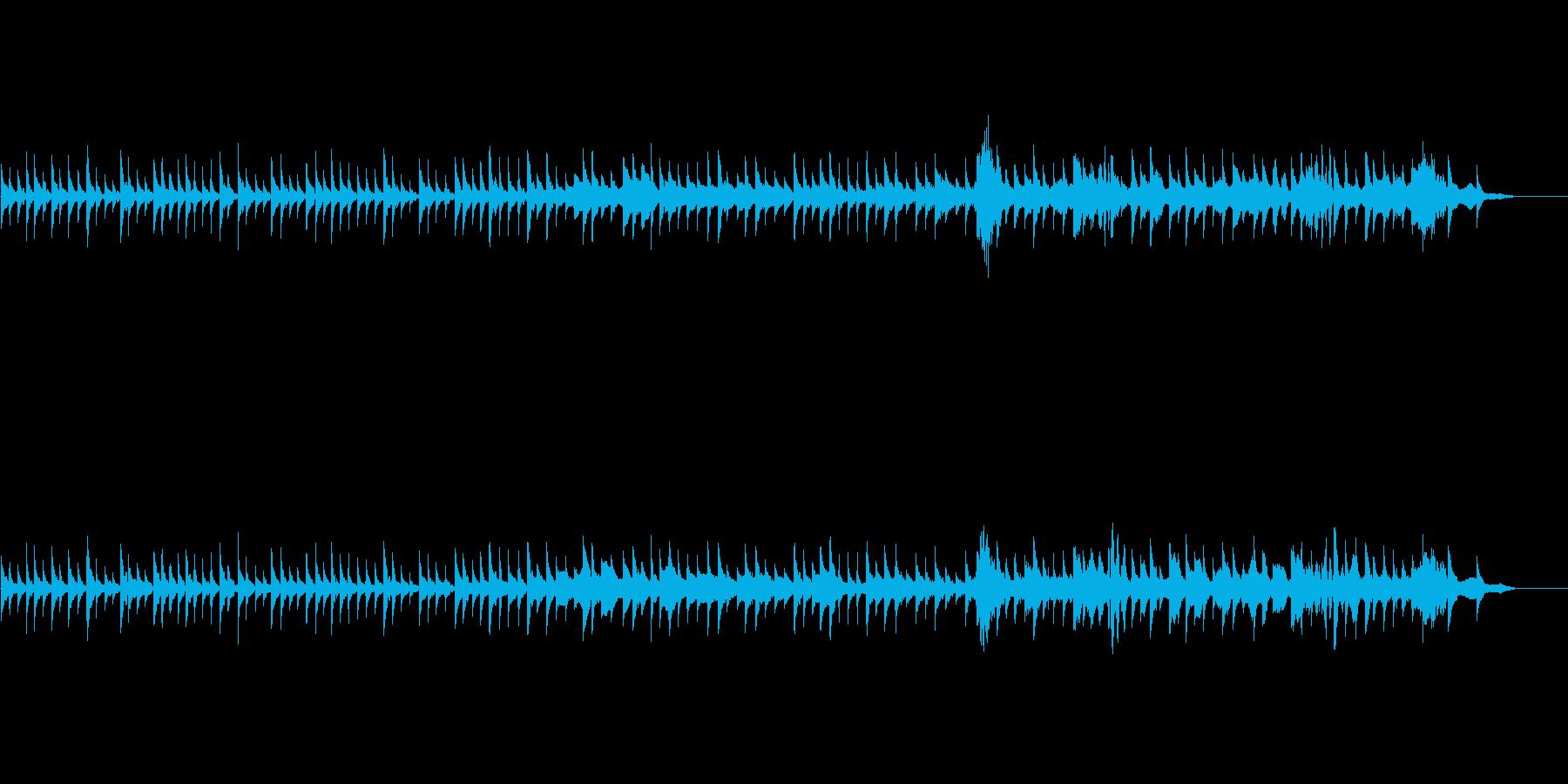 徐々に恐怖なオルゴールBGM(ホラー)の再生済みの波形