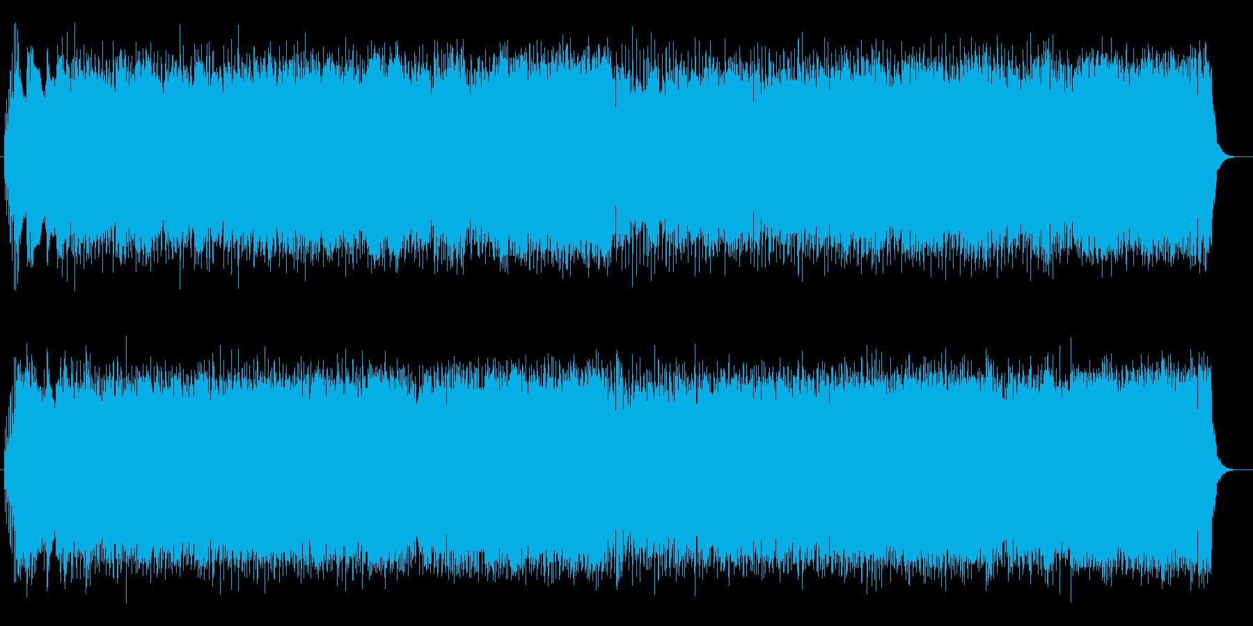 クールで軽快なシンセとエレキサウンドの再生済みの波形