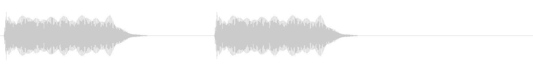 ツーッツーッ(電話・通話終了)の未再生の波形
