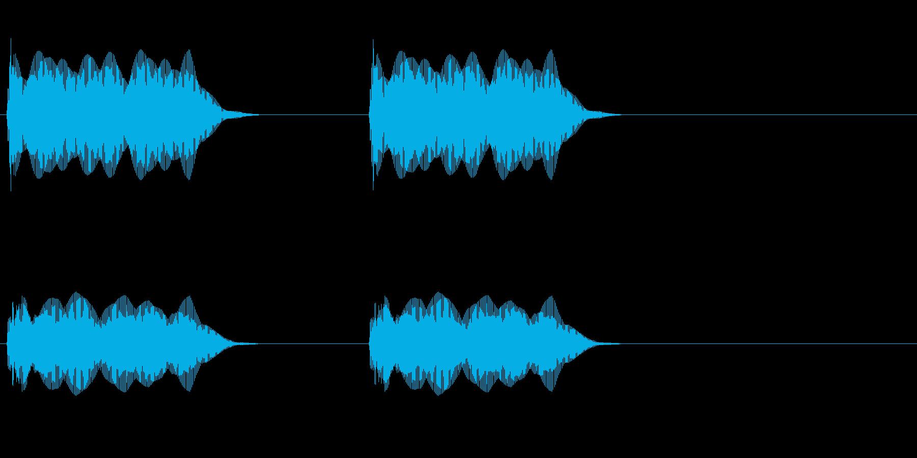 ツーッツーッ(電話・通話終了)の再生済みの波形