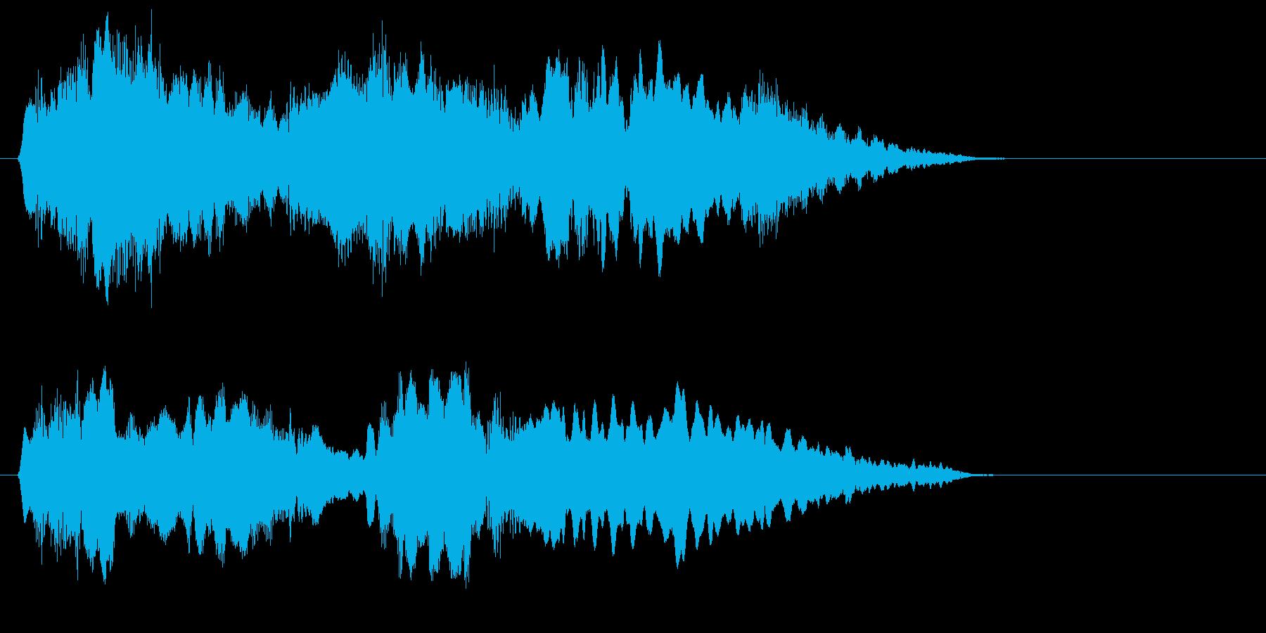 フルートとハープの不思議なジングルの再生済みの波形