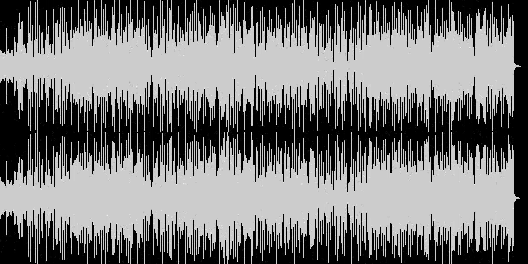 切ないリフが印象的なテクノの未再生の波形
