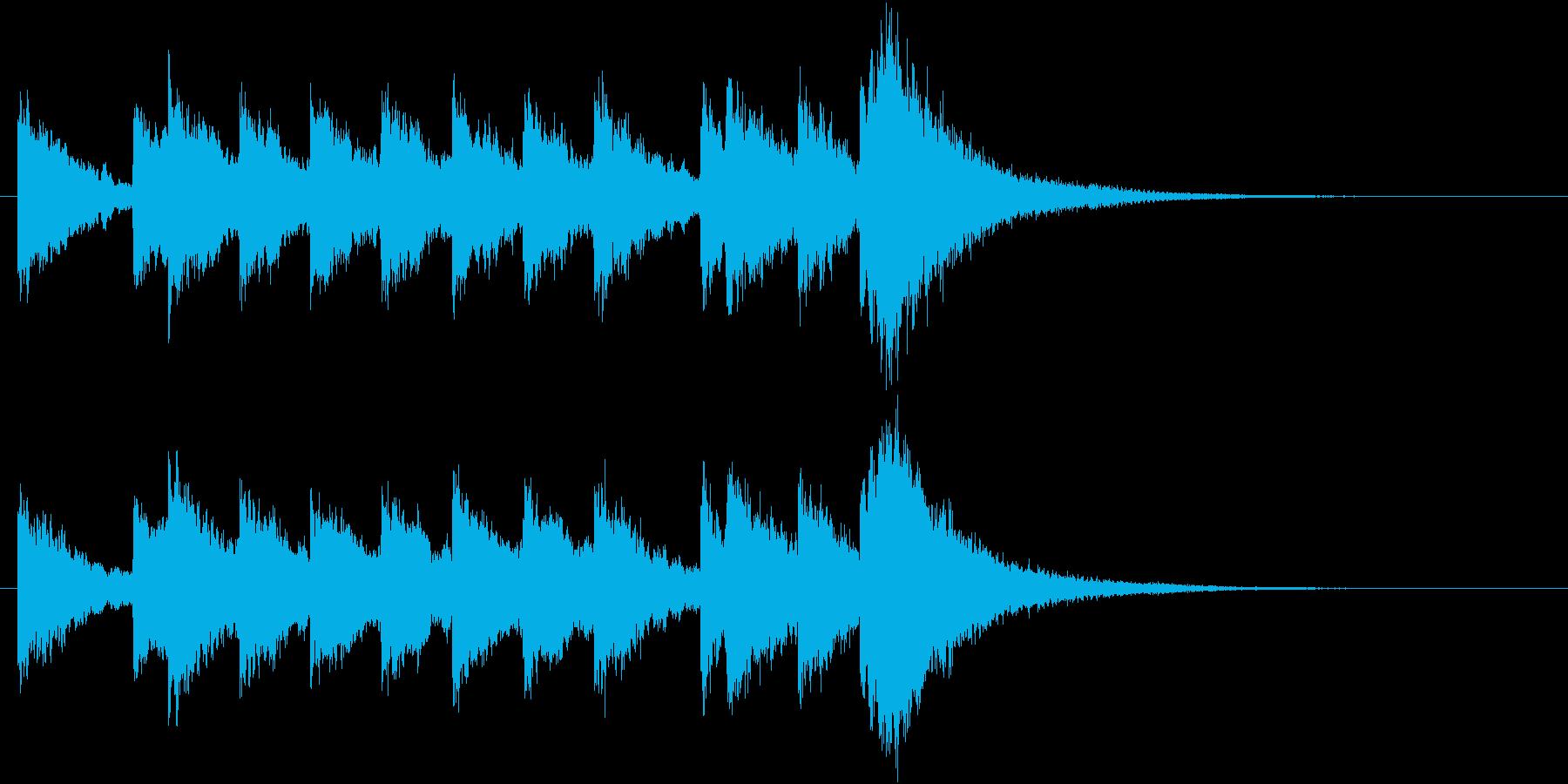 電車の発車・到着ジングル-04(10秒)の再生済みの波形