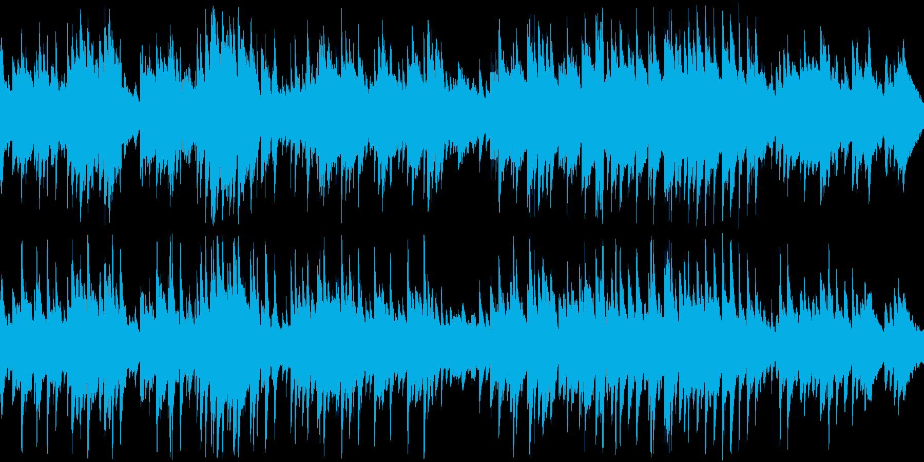 ピアノメインの優しい爽やかBGMの再生済みの波形