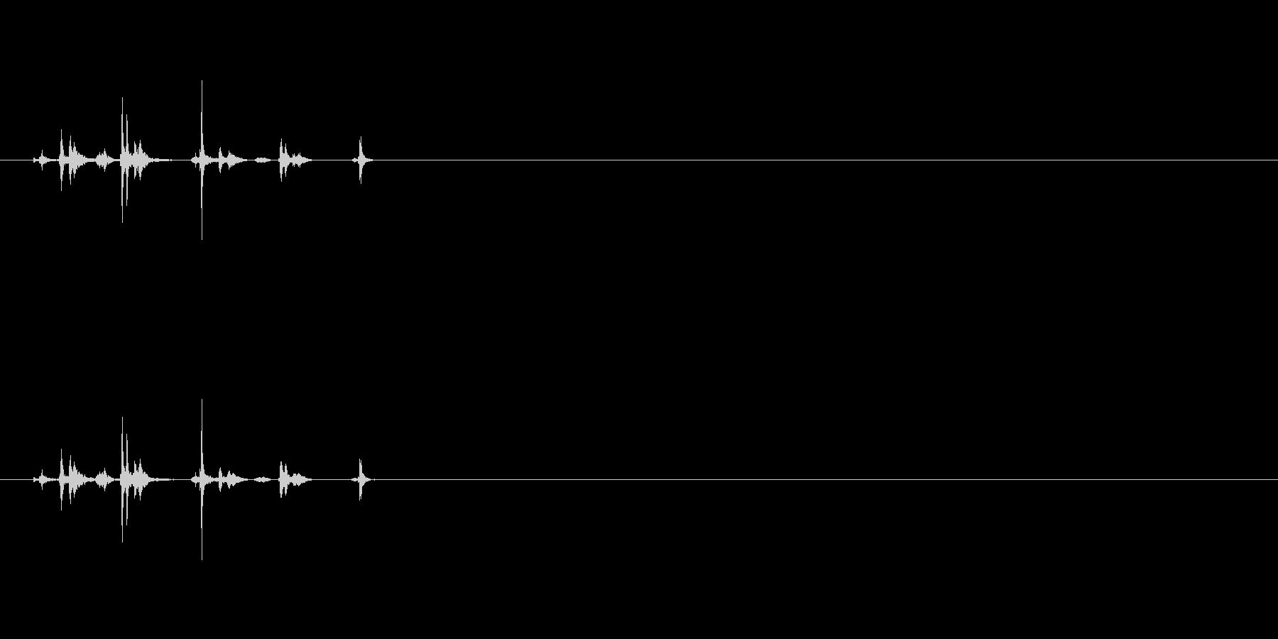 シャッター音03(2連写)Var2-3の未再生の波形