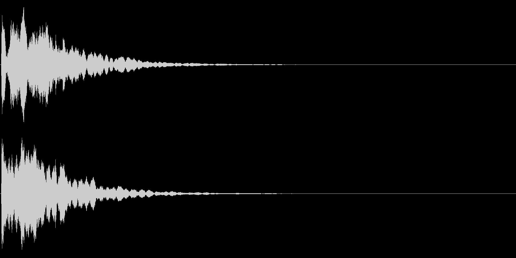 ゲームスタート、決定、ボタン音-104の未再生の波形