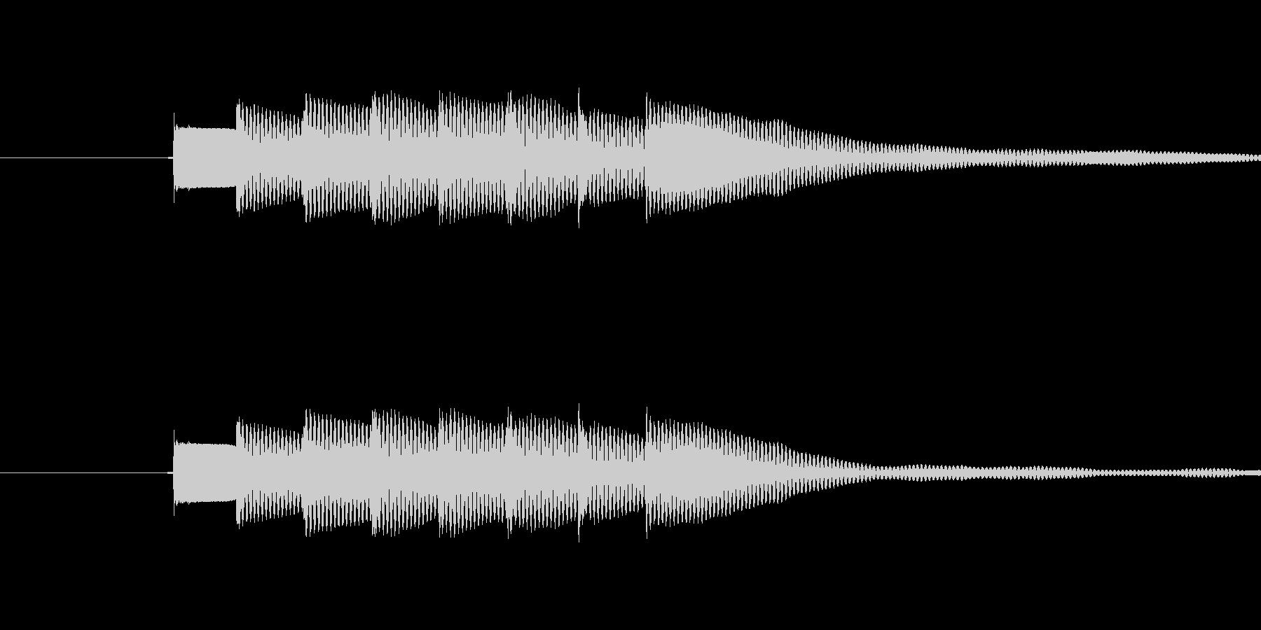 ピンポンピンポン(正解)の未再生の波形