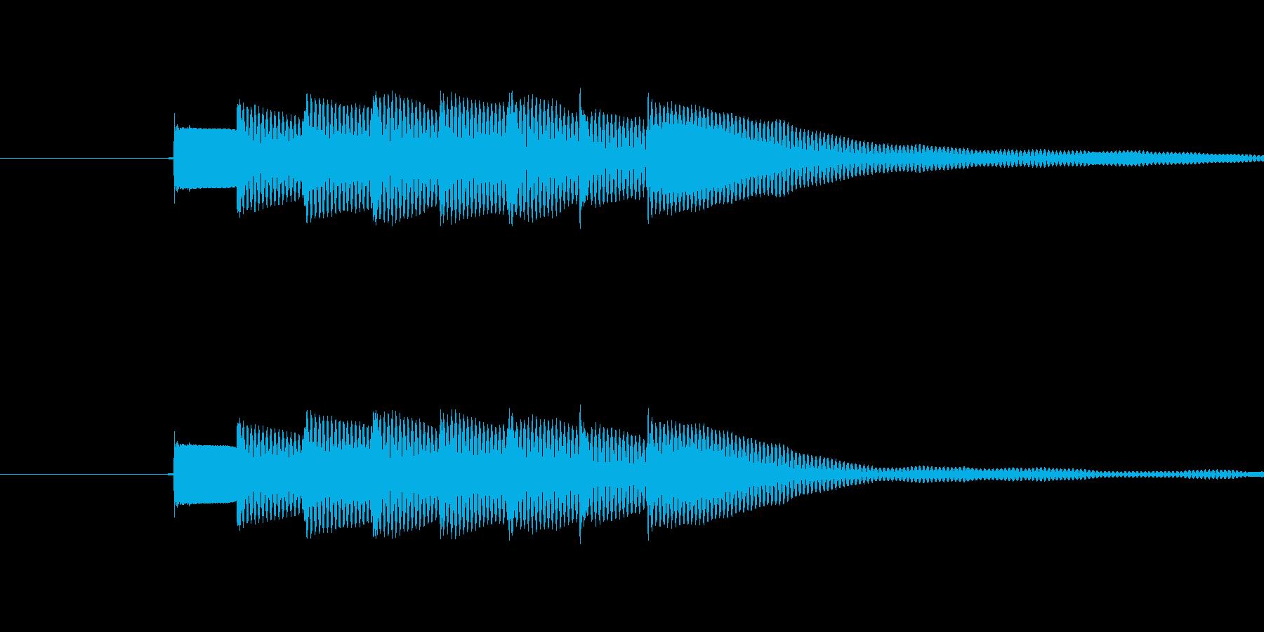 ピンポンピンポン(正解)の再生済みの波形