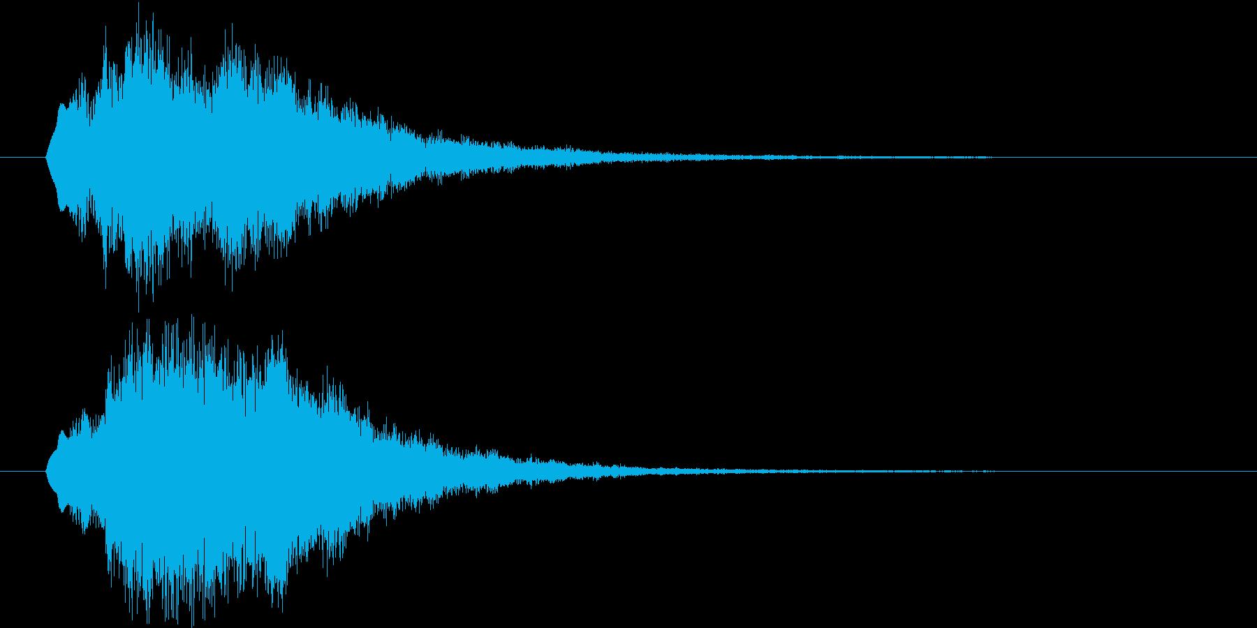 テロップ等に使えるベル系効果音の再生済みの波形