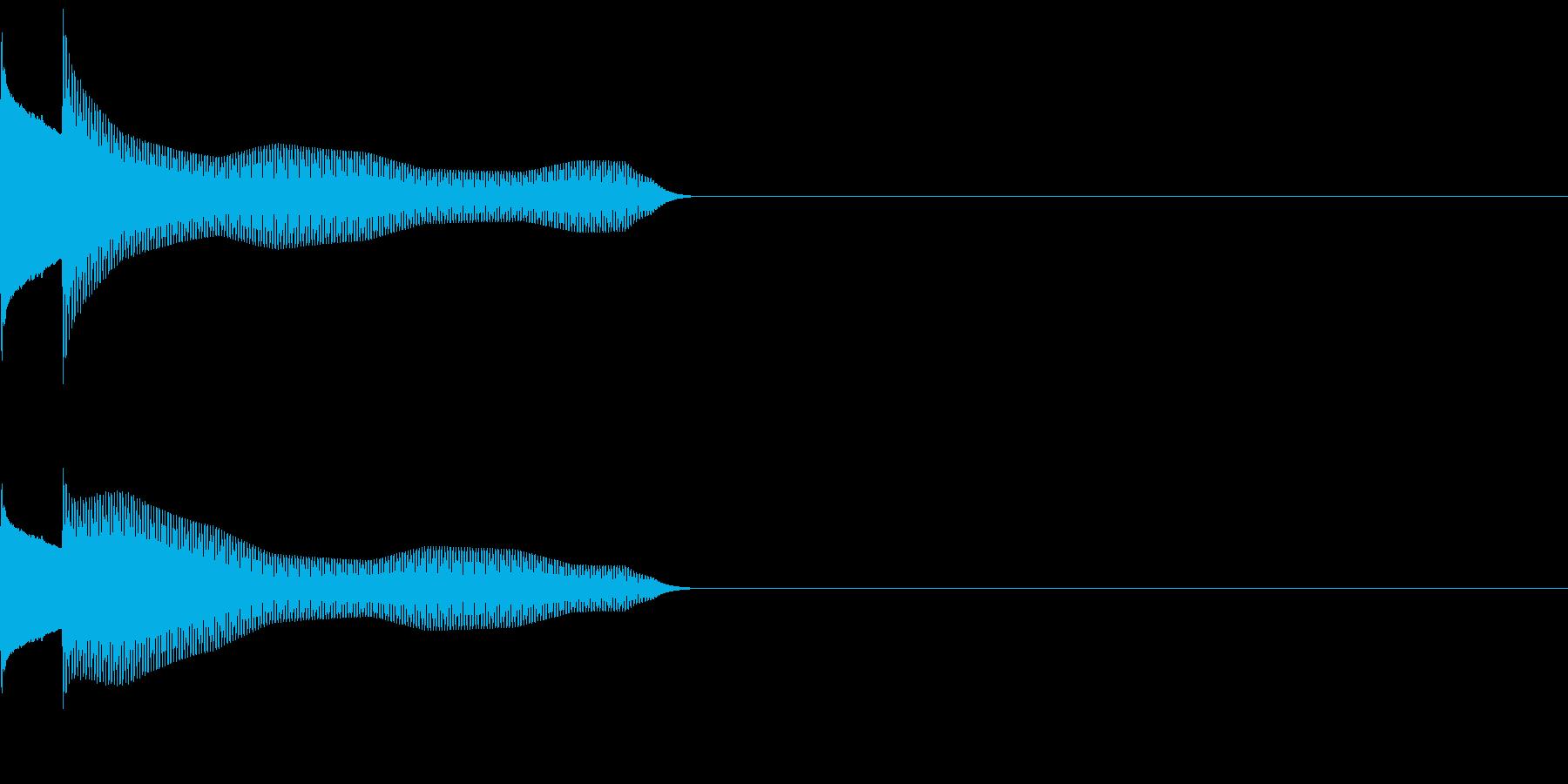 サウンドロゴ22_シンセAAの再生済みの波形