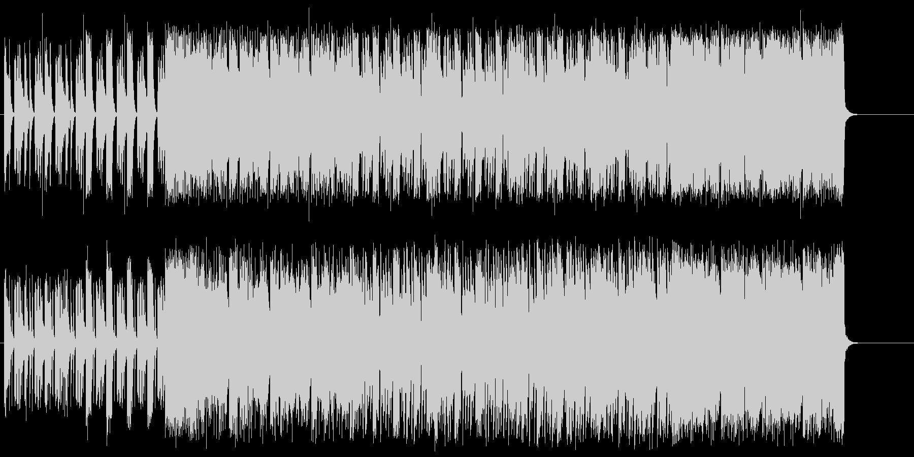 エレクトリックなミクスチャー・ロックの未再生の波形