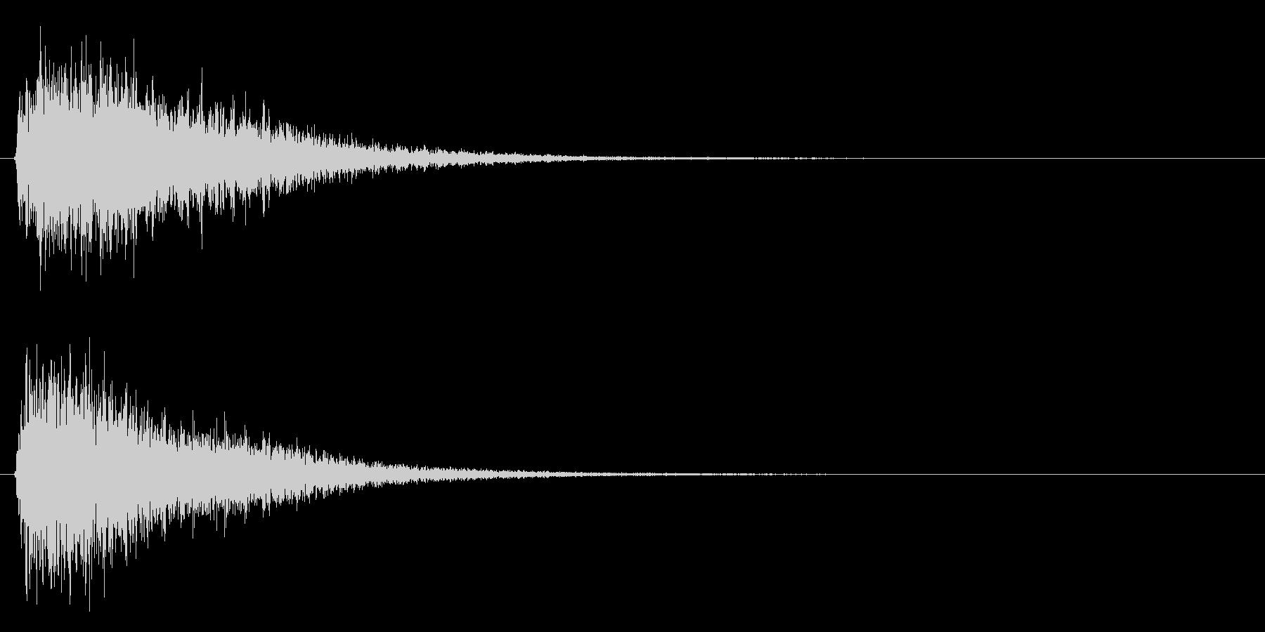 ジャンー(ゲームオーバー等)の未再生の波形