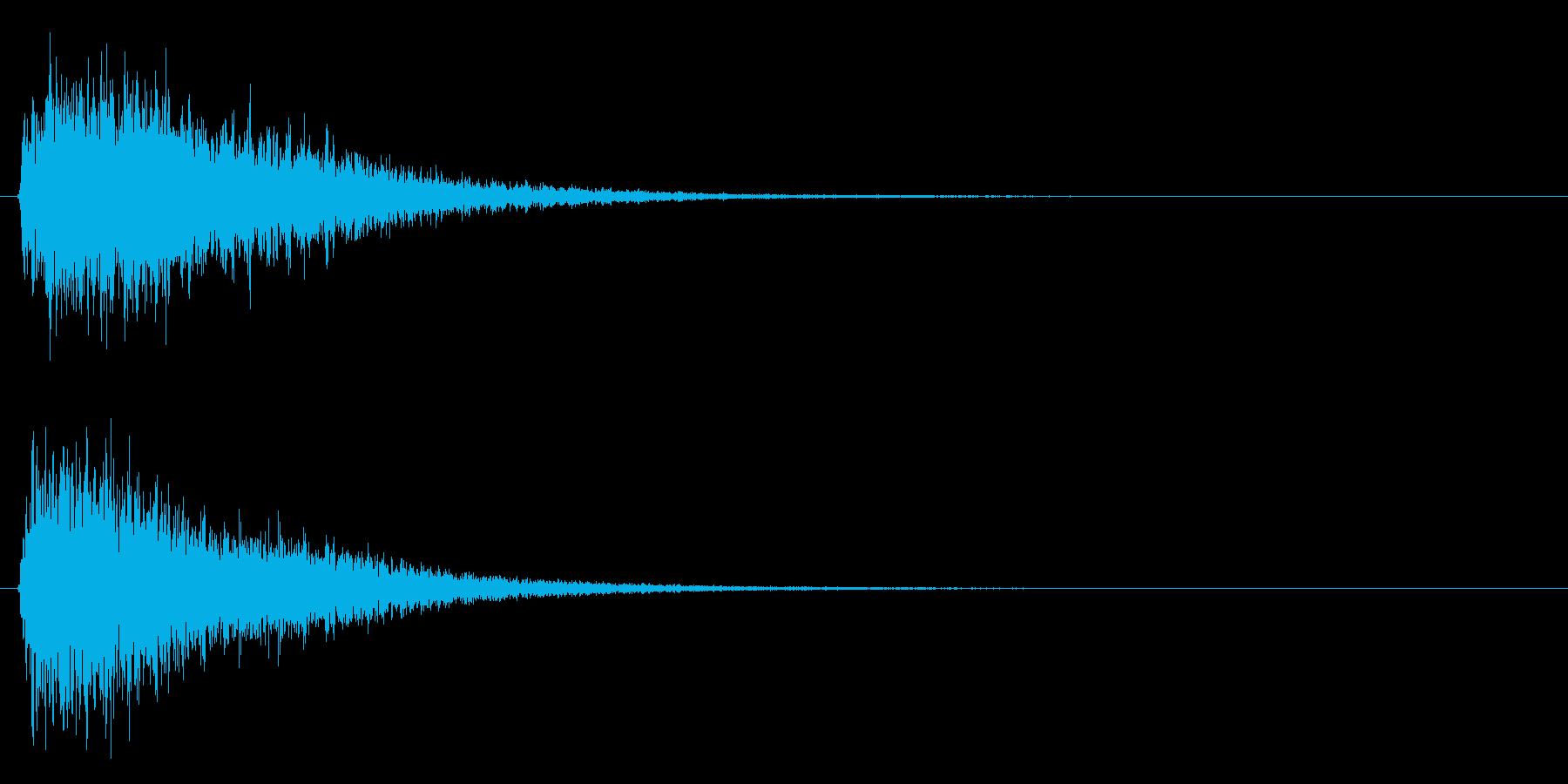 ジャンー(ゲームオーバー等)の再生済みの波形