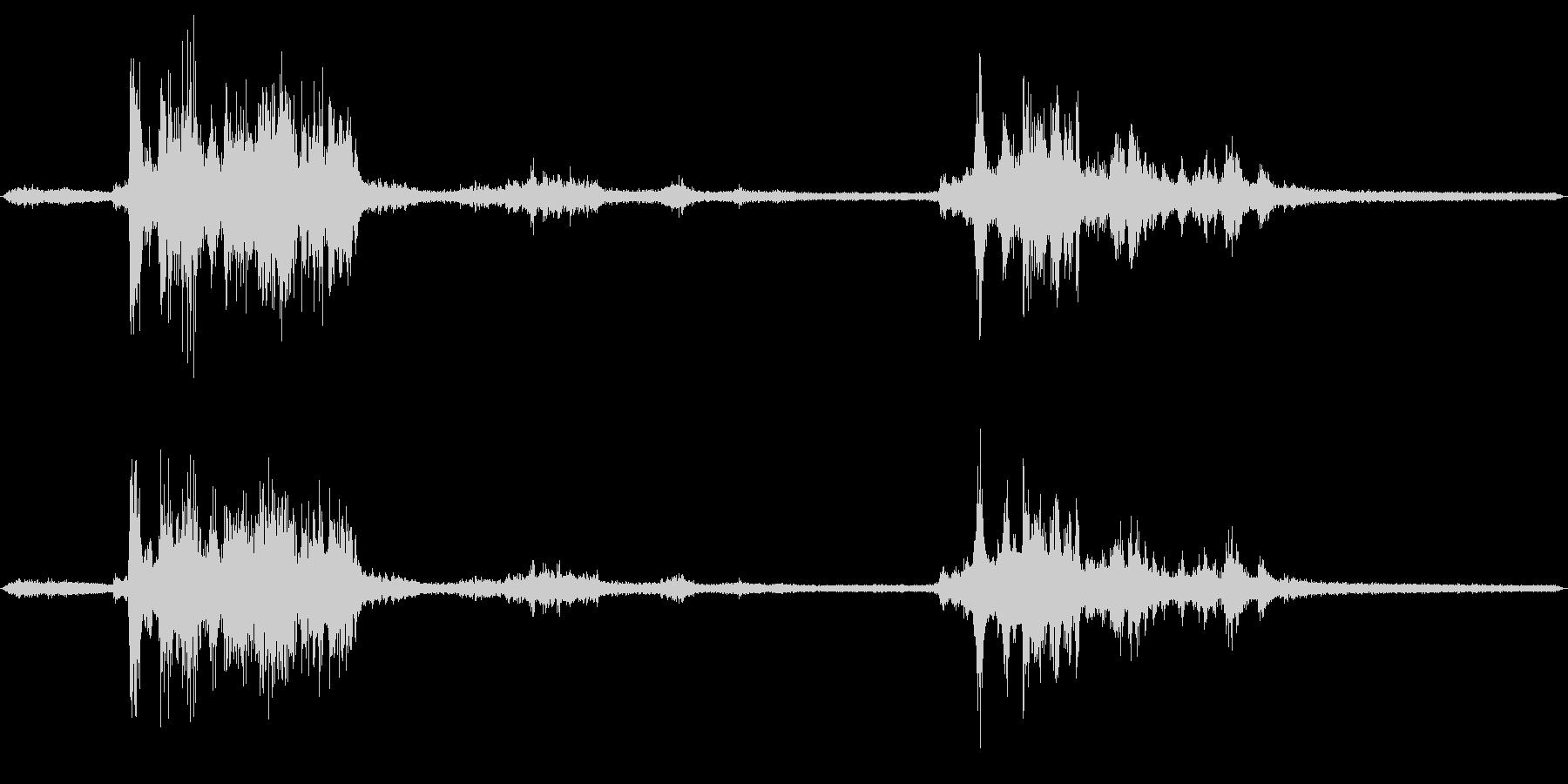 雷のフィールドレコーディング2の未再生の波形