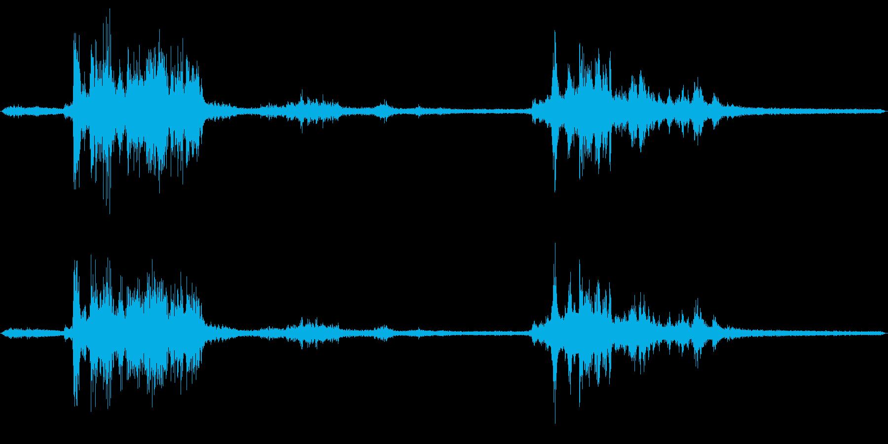 雷のフィールドレコーディング2の再生済みの波形