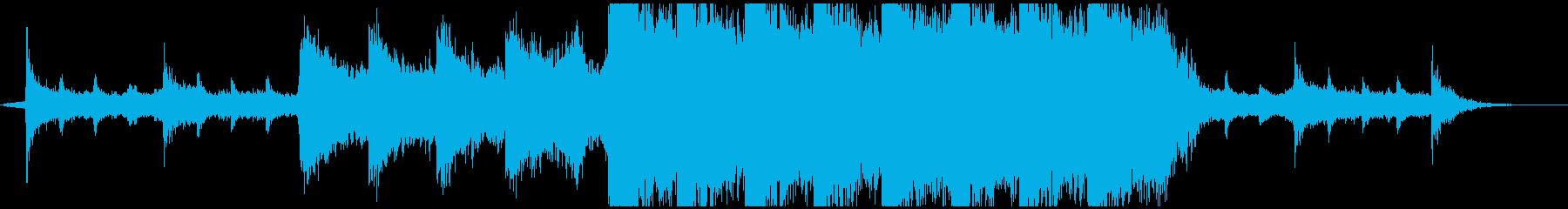 映画音楽のような感動的で壮大な曲の再生済みの波形