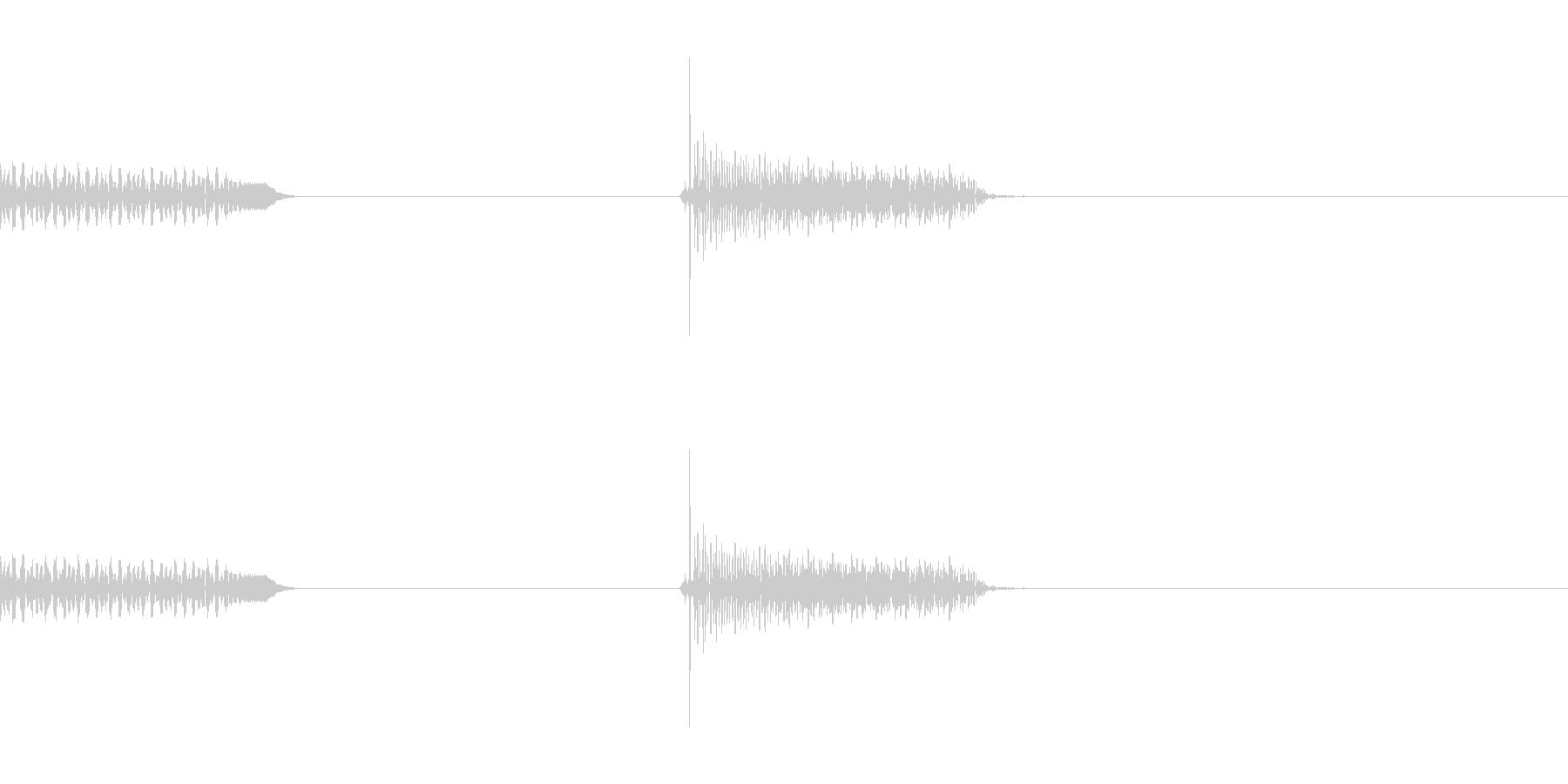 ハーモニックスの未再生の波形
