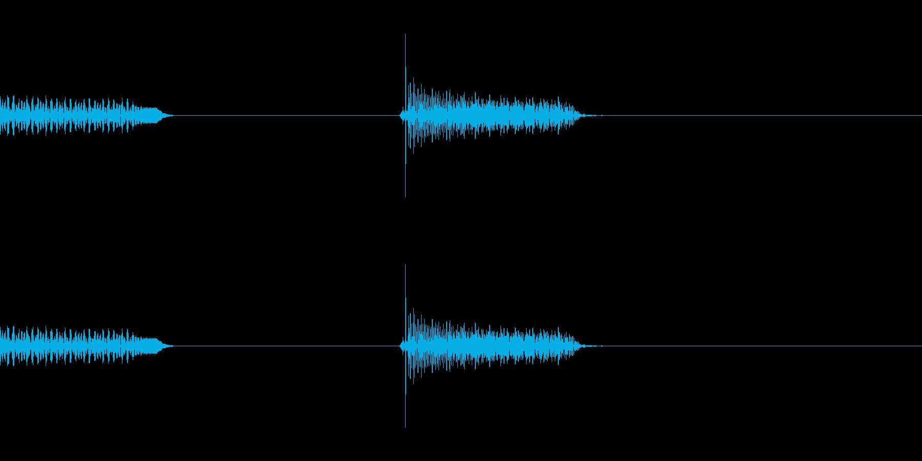 ハーモニックスの再生済みの波形