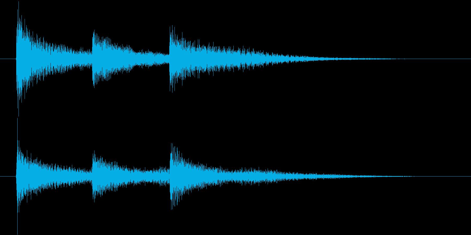 不安な気持ちの効果音の再生済みの波形