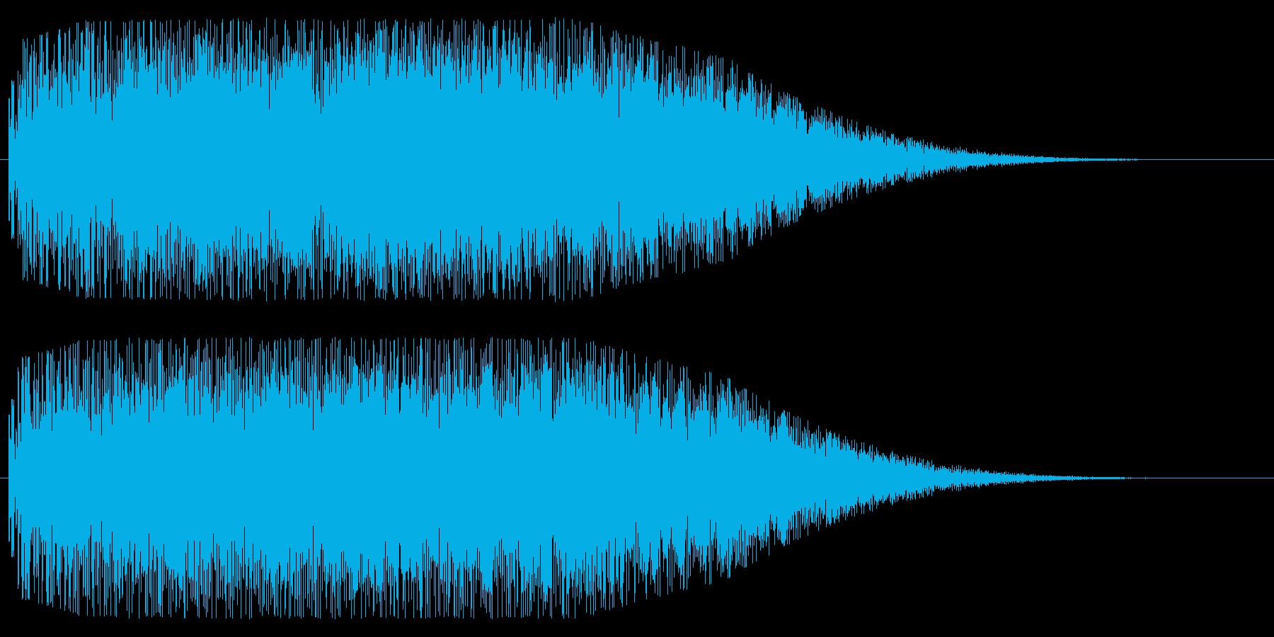 銅鑼(ドラ)を使ったインパクト音の再生済みの波形