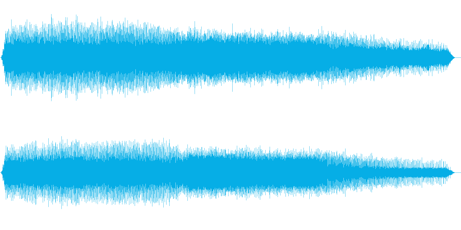 アブラゼミの鳴き声(ジリジリ、夏、午後)の再生済みの波形