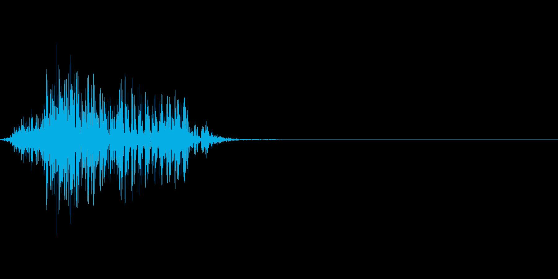 ゲーム掛け声男1フン5の再生済みの波形